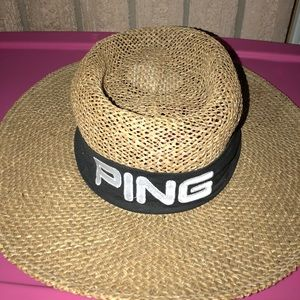 0177a2ea9cc Ping Accessories - Ping Golf by Karsten Brown Straw Panama Hat Mens M